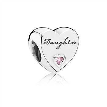 Pandora Daughter's Love Charm, Pink CZ 791726PCZ