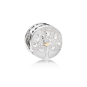 Pandora Tree of Hearts Charm, Silver Enamel 792106EN23