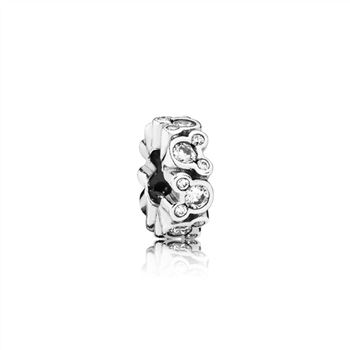 Pandora Disney, Mickey All Around Spacer, Clear CZ 791456CZ