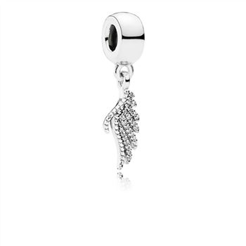 Pandora Majestic Feather Dangle Charm, Clear CZ 791750CZ