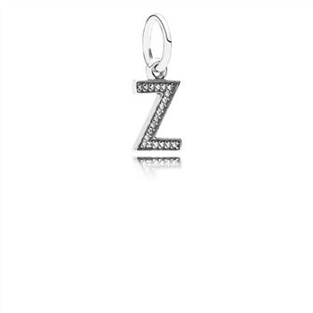 Pandora Letter Z Dangle Charm, Clear CZ 791338CZ