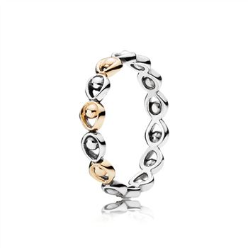 Pandora Peacock Glory Stackable PANDORA Gold & Silver Ring 190961