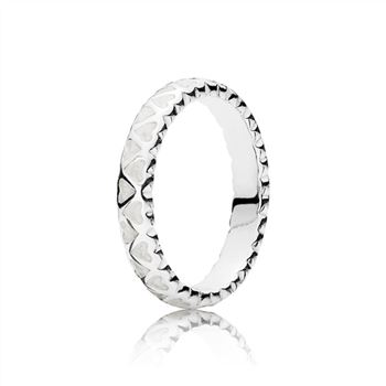 Pandora Abundance of Love Ring, Silver Enamel 190975EN23