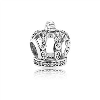 Pandora Fairytale Crown Charm, Clear CZ 792058CZ