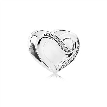 Pandora Ribbon of Love, Clear CZ 791816CZ