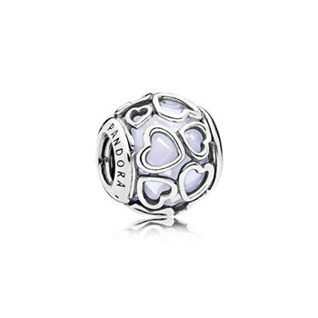 Pandora Encased in Love Charm, Opalescent White Crystal 792036NOW