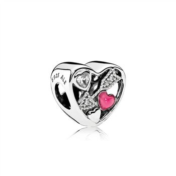 Pandora Struck By Love, Magenta Enamel & Clear CZ 792039CZ